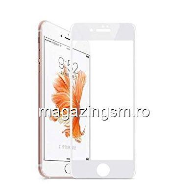 Folie Sticla iPhone 6s Acoperire Completa Alba