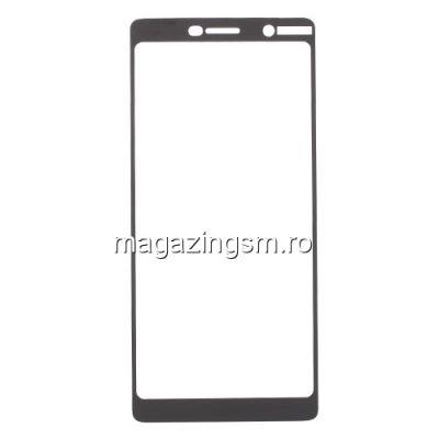 Geam Folie Sticla Protectie Display Nokia 7 Plus Acoperire Completa Negru