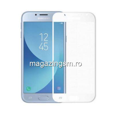 Geam Folie Sticla Protectie Display Samsung Galaxy J5 J530 2017 Acoperire Completa Alb 6D