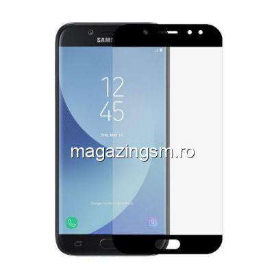 Geam Folie Sticla Protectie Display Samsung Galaxy J5 J530 2017 Acoperire Completa Negru 4D
