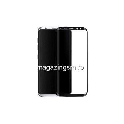 Geam Folie Sticla Protectie Display Samsung Galaxy S8 Negru 2,5D