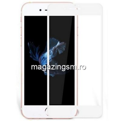 Folie Sticla iPhone 8 Acoperire Completa Alba