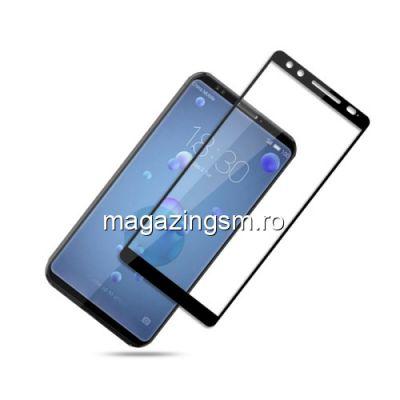 Geam Protectie Display HTC U12 Acoperire Completa Negru