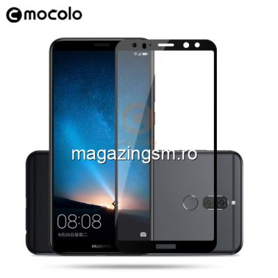 Geam Protectie Display Huawei Mate 10 Lite Acoperire Completa Negru