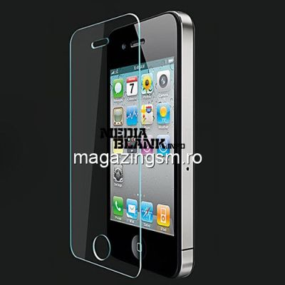 Geam Folie Sticla Protectie Display iPhone 4 4s Premium Tempered PRO+ In Blister