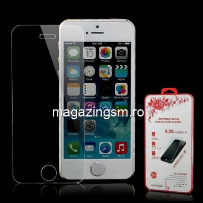 Geam Protectie Display iPhone 5 5s Tempered In Blister