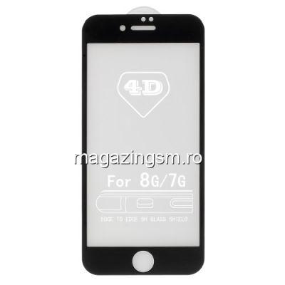 Folie Sticla iPhone 7 Acoperire Completa Neagra