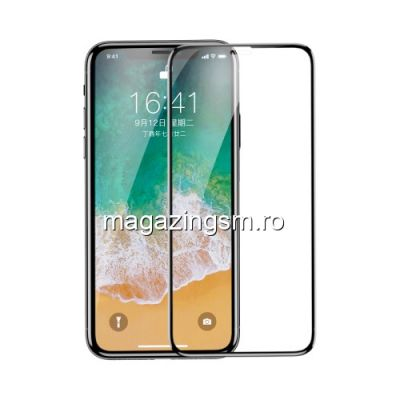 Geam Protectie Display iPhone X XS Acoperire Completa 3D