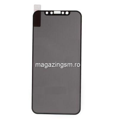 Geam Protectie Display Iphone X / XS / 11 Pro Acoperire Completa Anti Spy Neagra