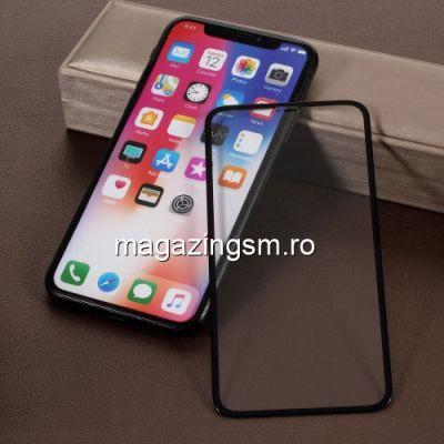 Geam Protectie Display iPhone XS iPhone X iPhone 11 Pro Acoperire Completa 5D Negru