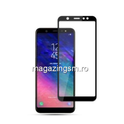 Geam Protectie Display Samsung Galaxy A6 2018 Acoperire Completa Negru