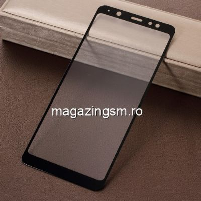 Geam Protectie Display Samsung Galaxy A6 Plus 2018 Acoperire Completa Negru