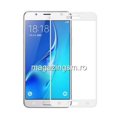 Geam Protectie Display Samsung Galaxy J5 J530 2017 Acoperire Completa Alb 6D