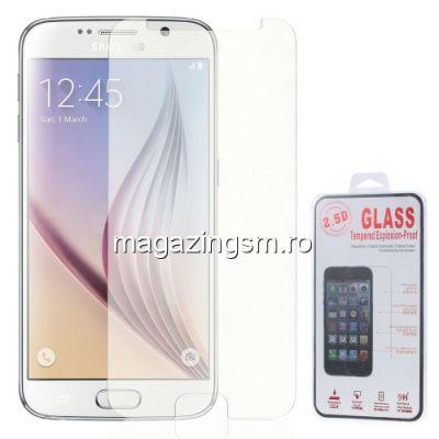 Geam Protectie Display Samsung Galaxy S6 G920 Explosion-proof Cu Margini Curbate