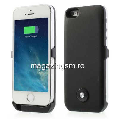 Husa Acumulator Extern iPhone 5s 5 3000mAh Negru
