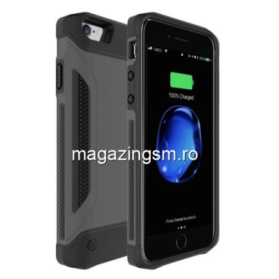 Husa Acumulator Extern iPhone 7 / 6s / 6 Power Bank 4000mAh Neagra