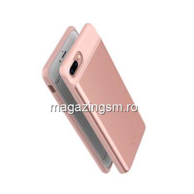 Husa Acumulator Extern iPhone 7 Plus / 8 Plus 7200mAh Roz Aurie