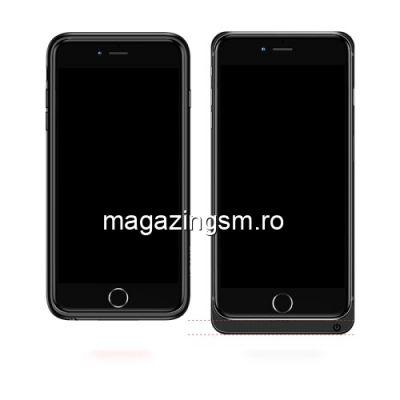 Husa Acumulator Extern Power Bank iPhone 8 7 6s 6 Cu Stand Neagra