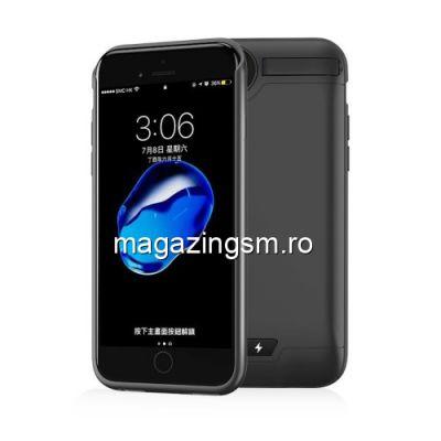 Husa Acumulator Extern Power Bank 5000mAh iPhone 8 / 7 Neagra