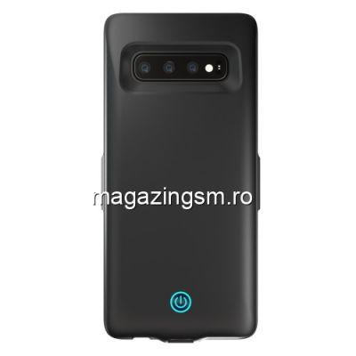 Husa Acumulator Extern Power Bank 7000mAh Samsung Galaxy S10 Neagra