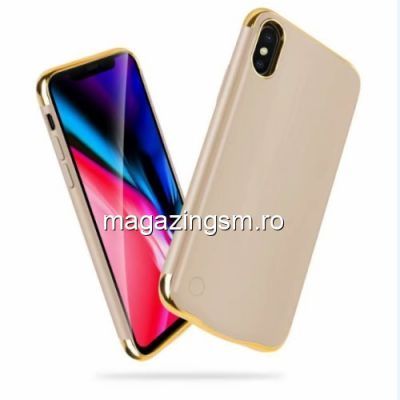 Husa Acumulator Extern Power Bank iPhone X 5000mAh Aurie