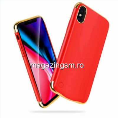 Husa Acumulator Extern Power Bank iPhone X 5000mAh Rosie