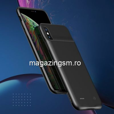 Husa Acumulator Extern Power Bank iPhone XR 4000mAh Neagra