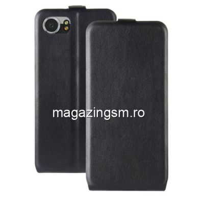 Husa BlackBerry Keyone Flip Cu Stand Neagra