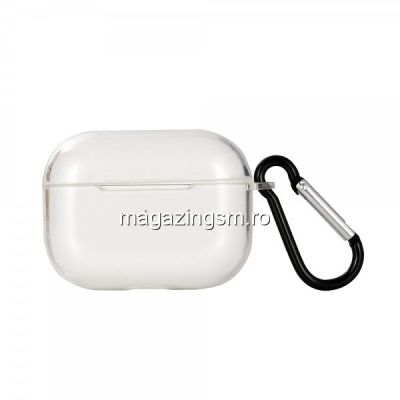 Husa Carcasa Casti Apple AirPods Pro Transparenta