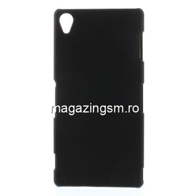 Husa Dura Sony Xperia Z3 Cauciucata Neagra