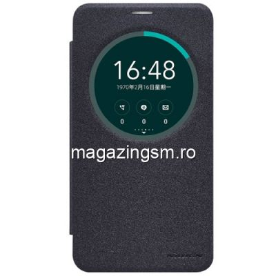 Husa Flip Cu Fereastra Asus Zenfone 2 Laser ZE600KL ZK601KL Nillkin Series Neagra