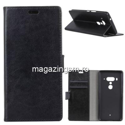 Husa Flip Cu Stand HTC U12 Plus Neagra