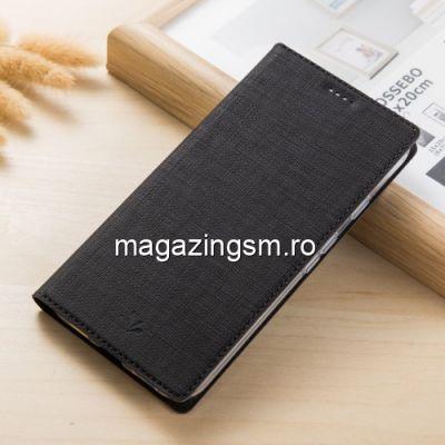 Husa Flip Cu Stand HTC U12 Plus VILI DMX Neagra