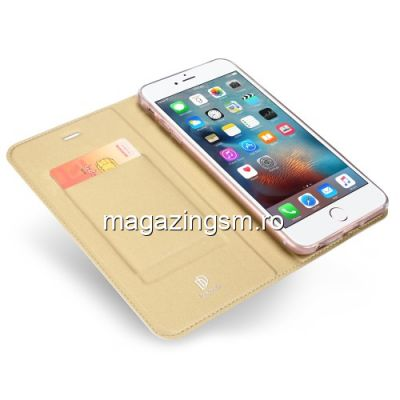 Husa Flip Cu Stand iPhone 6s / 6 Aurie