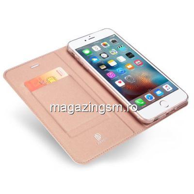 Husa Flip Cu Stand iPhone 6s / 6 Roz Aurie