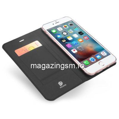 Husa Flip Cu Stand iPhone 6s Plus / 6 Plus Neagra