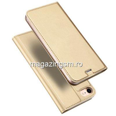 Husa Flip Cu Stand iPhone 7 / 8 Aurie