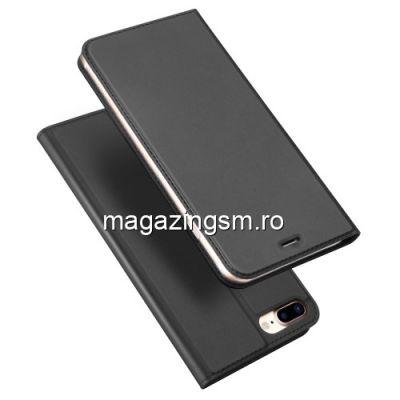 Husa Flip Cu Stand iPhone 7 Plus / 8 Plus Neagra