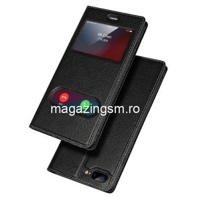 Husa Flip Cu Stand iPhone 7 Plus Neagra