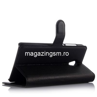 Husa Flip Cu Stand Lenovo Vibe P1 Neagra