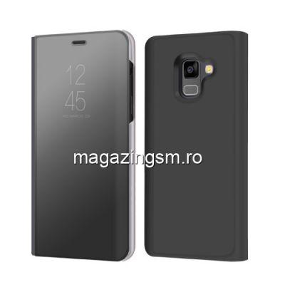 Husa Flip Cu Stand Samsung Galaxy A8 A530 2018 Neagra