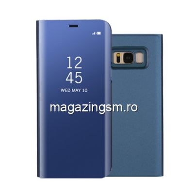 Husa Flip Cu Stand Samsung Galaxy S8 G950 Tip Oglinda Albastra