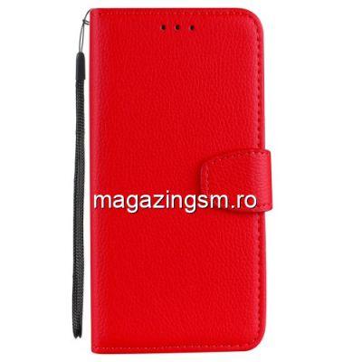 Husa Flip Cu Stand Xiaomi Redmi Note 5 / Redmi 5 Plus Rosie