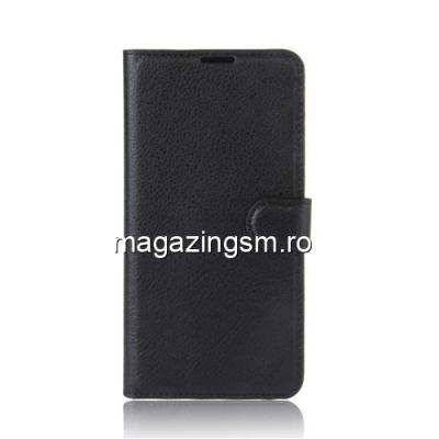Husa HTC U Ultra Flip Cu Stand Neagra