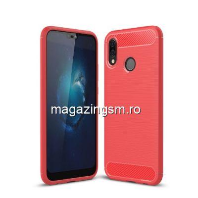 Husa Huawei P20 Lite / Nova 3e TPU Carbon Rosie
