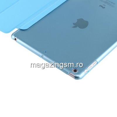 Husa iPad 9,7 inch 2018 / 2017 Flip Cu Stand Albastra