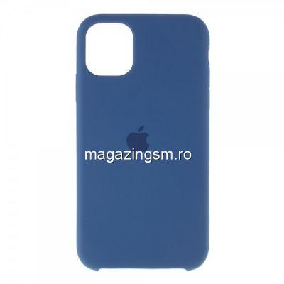 Husa iPhone 11 Pro Max Silicon Albastru Inchis