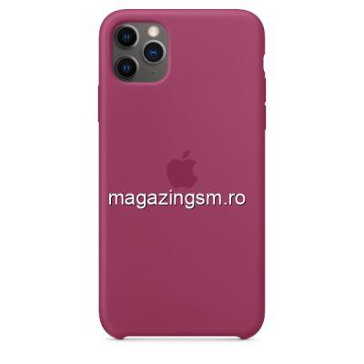 Husa iPhone 11 Pro Max Silicon Pomegranade