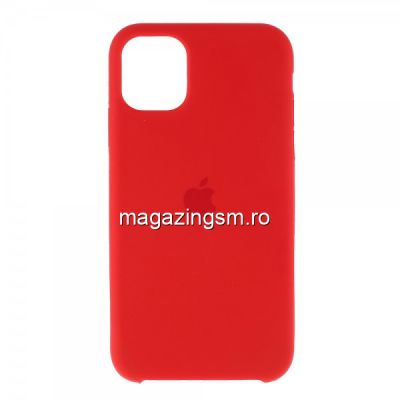 Husa iPhone 11 Pro Max Silicon Rosu Aprins