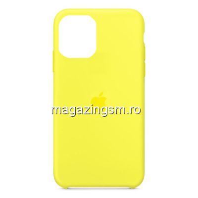 Husa iPhone 11 Pro Silicon Galben